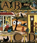 walter crane illustration from the alphabet of old friends (1874)